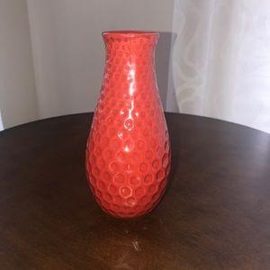 Other - Red Ceramic Vase